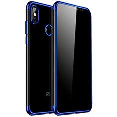 Silikon Schutzhülle Ultra Dünn Tasche Durchsichtig Transparent H04 für Xiaomi Redmi Note 5 Pro Blau