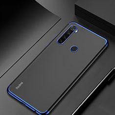 Silikon Schutzhülle Ultra Dünn Tasche Durchsichtig Transparent H04 für Xiaomi Redmi Note 8 Blau