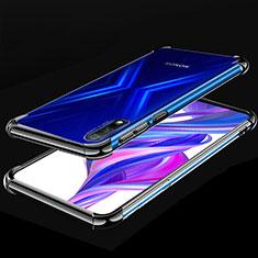Silikon Schutzhülle Ultra Dünn Tasche Durchsichtig Transparent H05 für Huawei Honor 9X Schwarz