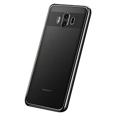 Silikon Schutzhülle Ultra Dünn Tasche Durchsichtig Transparent H05 für Huawei Mate 10 Schwarz
