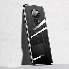 Silikon Schutzhülle Ultra Dünn Tasche Durchsichtig Transparent H05 für Huawei Mate 30 Lite Schwarz