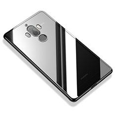 Silikon Schutzhülle Ultra Dünn Tasche Durchsichtig Transparent H05 für Huawei Mate 9 Schwarz