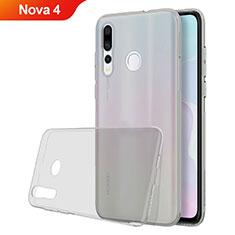 Silikon Schutzhülle Ultra Dünn Tasche Durchsichtig Transparent H05 für Huawei Nova 4 Grau