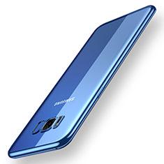 Silikon Schutzhülle Ultra Dünn Tasche Durchsichtig Transparent H05 für Samsung Galaxy S8 Plus Blau