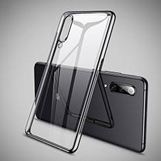 Silikon Schutzhülle Ultra Dünn Tasche Durchsichtig Transparent H05 für Xiaomi Mi 9 SE Schwarz