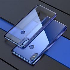Silikon Schutzhülle Ultra Dünn Tasche Durchsichtig Transparent H05 für Xiaomi Mi Mix 3 Blau