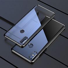 Silikon Schutzhülle Ultra Dünn Tasche Durchsichtig Transparent H05 für Xiaomi Mi Mix 3 Schwarz