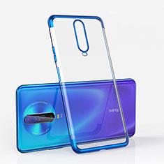 Silikon Schutzhülle Ultra Dünn Tasche Durchsichtig Transparent H05 für Xiaomi Redmi K30 5G Blau