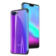 Silikon Schutzhülle Ultra Dünn Tasche Durchsichtig Transparent H06 für Huawei Honor 10 Schwarz