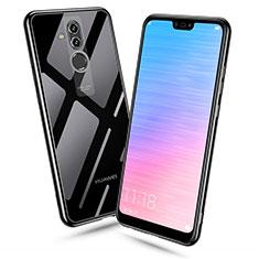 Silikon Schutzhülle Ultra Dünn Tasche Durchsichtig Transparent H06 für Huawei Mate 20 Lite Schwarz