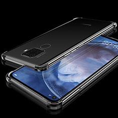 Silikon Schutzhülle Ultra Dünn Tasche Durchsichtig Transparent H07 für Huawei Mate 30 Lite Schwarz