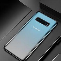 Silikon Schutzhülle Ultra Dünn Tasche Durchsichtig Transparent H07 für Samsung Galaxy S10 Schwarz