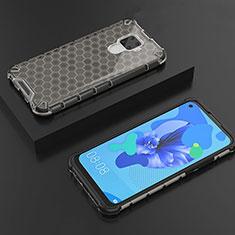 Silikon Schutzhülle Ultra Dünn Tasche Durchsichtig Transparent H08 für Huawei Mate 30 Lite Schwarz
