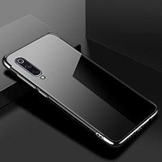 Silikon Schutzhülle Ultra Dünn Tasche Durchsichtig Transparent H08 für Xiaomi Mi 9 Lite Schwarz