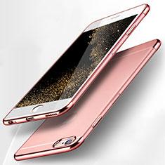 Silikon Schutzhülle Ultra Dünn Tasche Durchsichtig Transparent H15 für Apple iPhone 6S Rosa