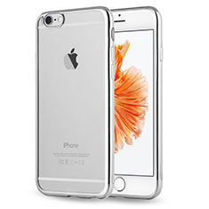 Silikon Schutzhülle Ultra Dünn Tasche Durchsichtig Transparent H17 für Apple iPhone 6S Silber