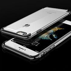 Silikon Schutzhülle Ultra Dünn Tasche Durchsichtig Transparent HC01 für Apple iPhone 6S Schwarz