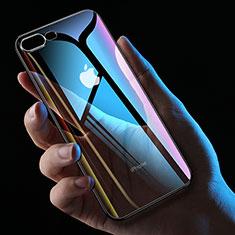 Silikon Schutzhülle Ultra Dünn Tasche Durchsichtig Transparent HC01 für Apple iPhone 8 Plus Schwarz