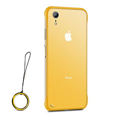 Silikon Schutzhülle Ultra Dünn Tasche Durchsichtig Transparent HT01 für Apple iPhone XR Gold