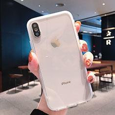 Silikon Schutzhülle Ultra Dünn Tasche Durchsichtig Transparent K01 für Apple iPhone Xs Klar