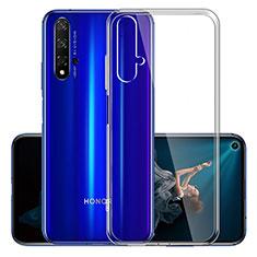 Silikon Schutzhülle Ultra Dünn Tasche Durchsichtig Transparent K01 für Huawei Honor 20 Klar