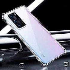 Silikon Schutzhülle Ultra Dünn Tasche Durchsichtig Transparent K01 für Huawei P40 Klar