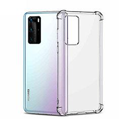 Silikon Schutzhülle Ultra Dünn Tasche Durchsichtig Transparent K01 für Huawei P40 Pro Klar