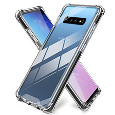 Silikon Schutzhülle Ultra Dünn Tasche Durchsichtig Transparent K01 für Samsung Galaxy S10 Plus Klar