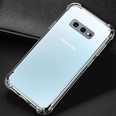 Silikon Schutzhülle Ultra Dünn Tasche Durchsichtig Transparent K01 für Samsung Galaxy S10e Klar