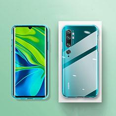 Silikon Schutzhülle Ultra Dünn Tasche Durchsichtig Transparent K01 für Xiaomi Mi Note 10 Klar