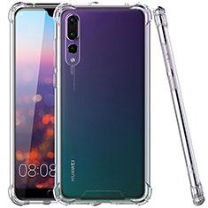 Silikon Schutzhülle Ultra Dünn Tasche Durchsichtig Transparent K02 für Huawei P20 Pro Klar