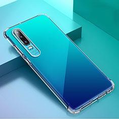 Silikon Schutzhülle Ultra Dünn Tasche Durchsichtig Transparent K02 für Huawei P30 Klar