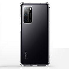 Silikon Schutzhülle Ultra Dünn Tasche Durchsichtig Transparent K02 für Huawei P40 Klar