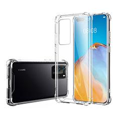 Silikon Schutzhülle Ultra Dünn Tasche Durchsichtig Transparent K02 für Huawei P40 Pro Klar