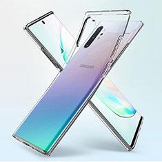 Silikon Schutzhülle Ultra Dünn Tasche Durchsichtig Transparent K02 für Samsung Galaxy Note 10 Plus 5G Klar