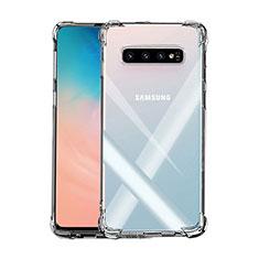 Silikon Schutzhülle Ultra Dünn Tasche Durchsichtig Transparent K02 für Samsung Galaxy S10 Plus Klar