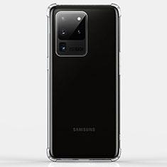 Silikon Schutzhülle Ultra Dünn Tasche Durchsichtig Transparent K02 für Samsung Galaxy S20 Ultra 5G Klar