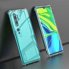 Silikon Schutzhülle Ultra Dünn Tasche Durchsichtig Transparent K02 für Xiaomi Mi Note 10 Klar
