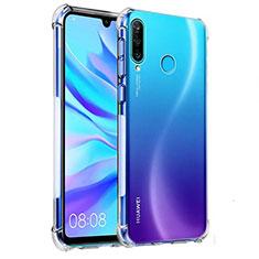 Silikon Schutzhülle Ultra Dünn Tasche Durchsichtig Transparent K03 für Huawei Nova 4e Klar