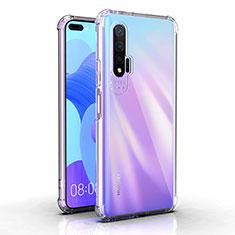 Silikon Schutzhülle Ultra Dünn Tasche Durchsichtig Transparent K03 für Huawei Nova 6 5G Klar