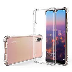 Silikon Schutzhülle Ultra Dünn Tasche Durchsichtig Transparent K03 für Huawei P20 Klar