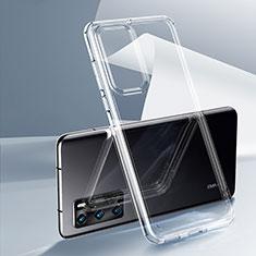 Silikon Schutzhülle Ultra Dünn Tasche Durchsichtig Transparent K03 für Huawei P40 Klar