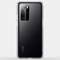 Silikon Schutzhülle Ultra Dünn Tasche Durchsichtig Transparent K03 für Huawei P40 Pro Klar