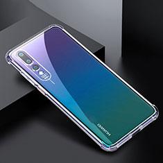 Silikon Schutzhülle Ultra Dünn Tasche Durchsichtig Transparent K04 für Huawei P20 Pro Klar