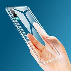 Silikon Schutzhülle Ultra Dünn Tasche Durchsichtig Transparent K04 für Huawei P30 Klar