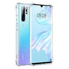 Silikon Schutzhülle Ultra Dünn Tasche Durchsichtig Transparent K04 für Huawei P30 Pro Klar