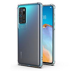 Silikon Schutzhülle Ultra Dünn Tasche Durchsichtig Transparent K04 für Huawei P40 Klar