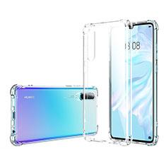Silikon Schutzhülle Ultra Dünn Tasche Durchsichtig Transparent K06 für Huawei P30 Klar