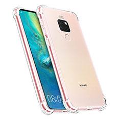 Silikon Schutzhülle Ultra Dünn Tasche Durchsichtig Transparent K07 für Huawei Mate 20 Klar