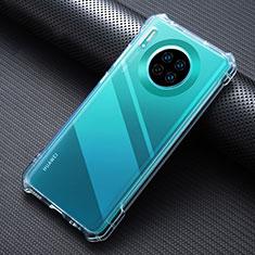 Silikon Schutzhülle Ultra Dünn Tasche Durchsichtig Transparent K07 für Huawei Mate 30 Klar